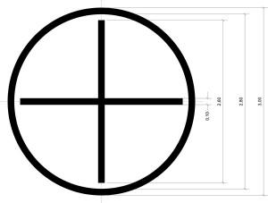 размеры креста для распознавания и посадки